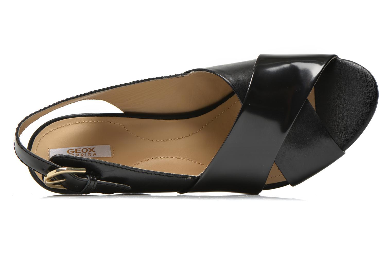 Sandali e scarpe aperte Geox D HERITAGE B D62R1B Nero immagine sinistra