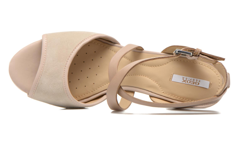 Sandales et nu-pieds Geox D HERITAGE A D62R1A Beige vue gauche