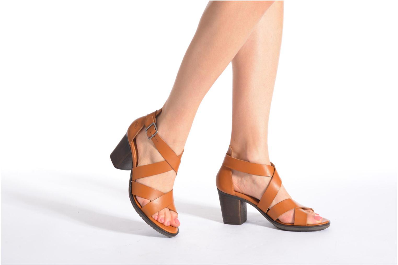 Sandales et nu-pieds P-L-D-M By Palladium Getty Frl Marron vue bas / vue portée sac