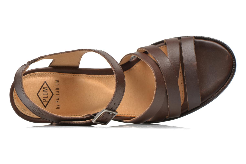 Sandales et nu-pieds P-L-D-M By Palladium Gaya Frl Marron vue gauche