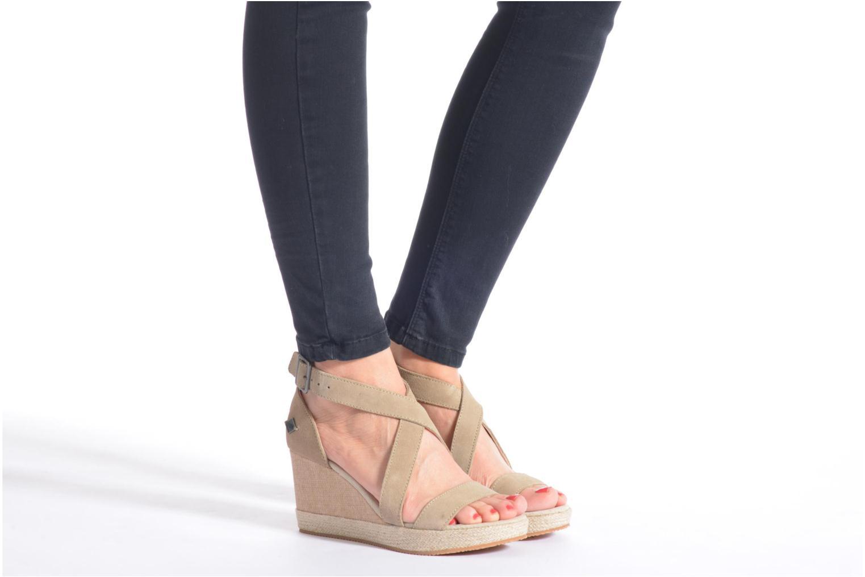 Sandales et nu-pieds P-L-D-M By Palladium Wellton Sud Marron vue bas / vue portée sac