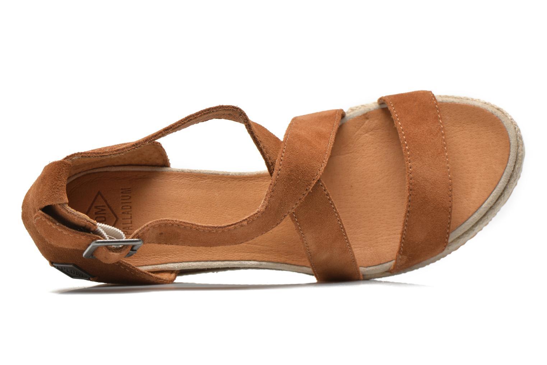 Sandales et nu-pieds P-L-D-M By Palladium Wellton Sud Marron vue gauche