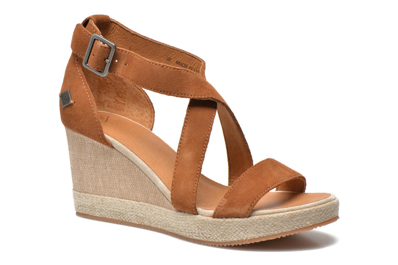 Sandales et nu-pieds P-L-D-M By Palladium Wellton Sud Marron vue détail/paire