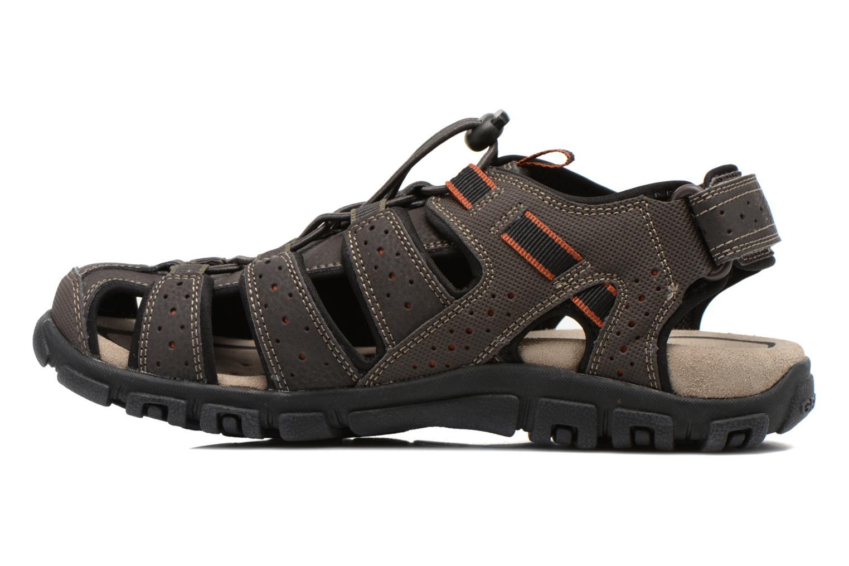 Sandales et nu-pieds Geox U S.STRADA B U6224B Marron vue face