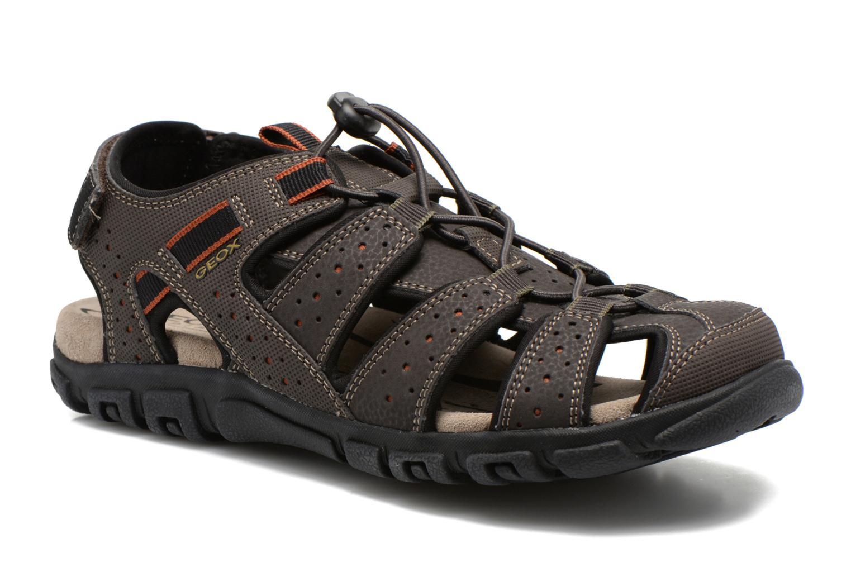 Sandales et nu-pieds Geox U S.STRADA B U6224B Marron vue détail/paire