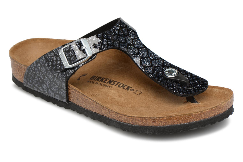 Flip flops & klipklapper Birkenstock Gizeh Birko Flor Sort detaljeret billede af skoene