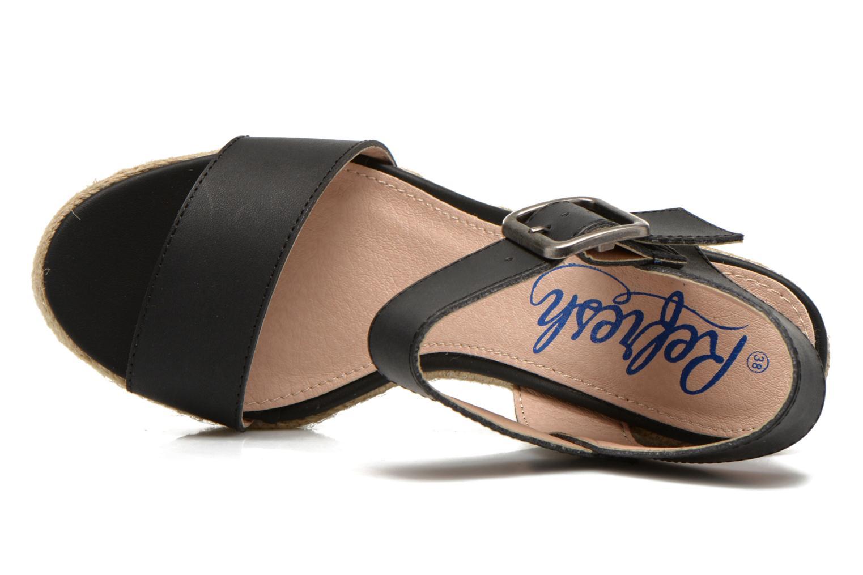 Sandales et nu-pieds Refresh Corail 61772 Noir vue gauche