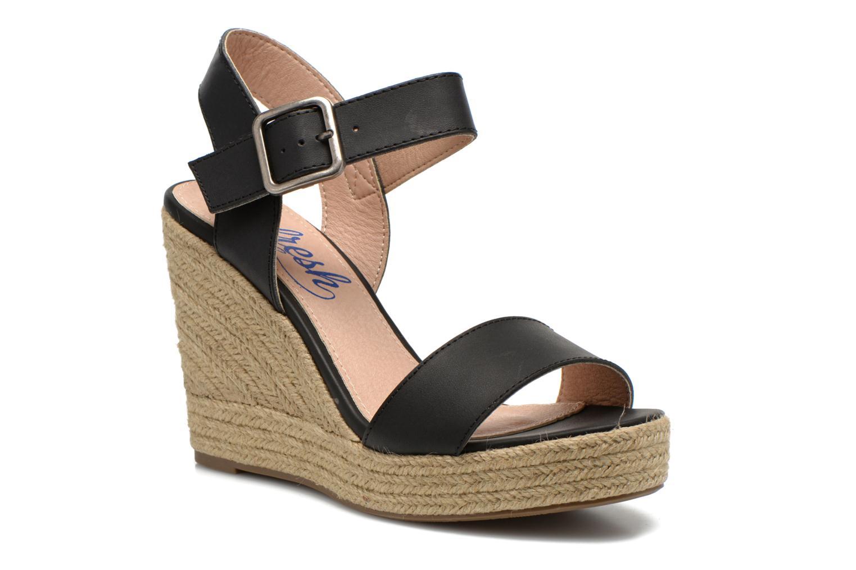 Sandales et nu-pieds Refresh Corail 61772 Noir vue détail/paire