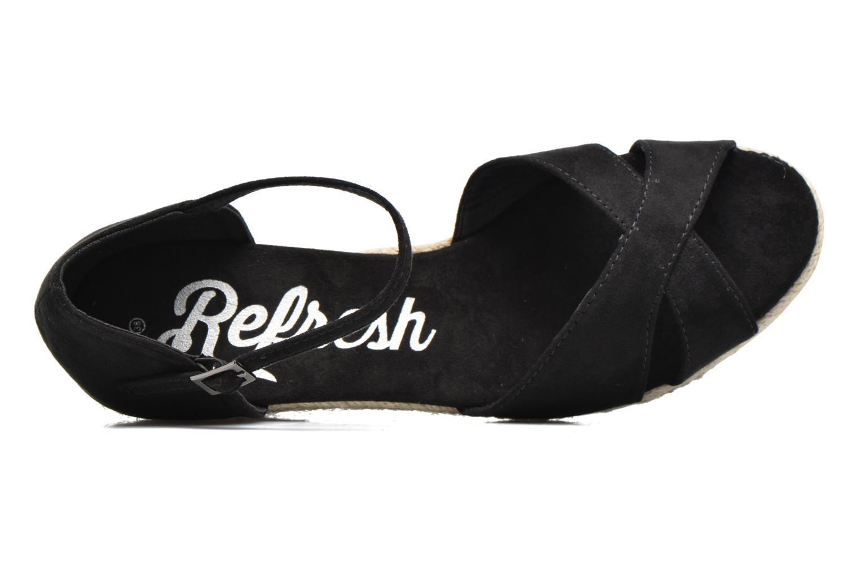 Sandales et nu-pieds Refresh Patelle 62091 Noir vue gauche