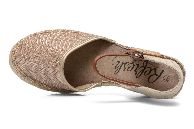 Sandali e scarpe aperte Refresh Gipsy 62034 Oro e bronzo immagine sinistra