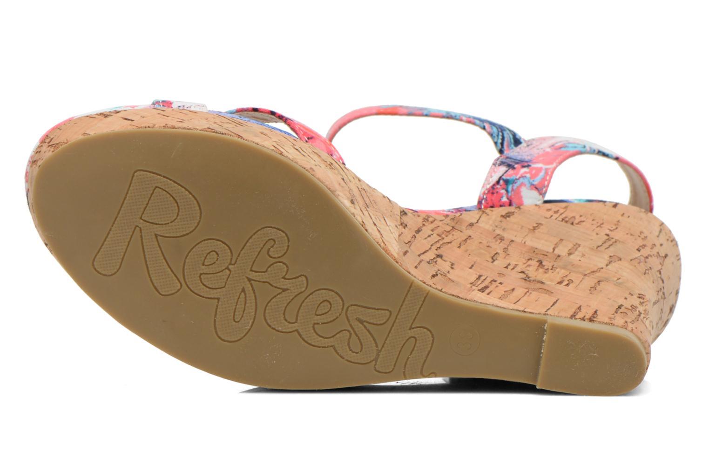 Sandales et nu-pieds Refresh Limonade 61824 Multicolore vue haut