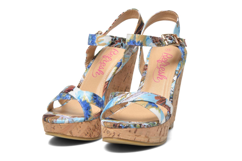 Sandales et nu-pieds Refresh Limonade 61824 Multicolore vue 3/4