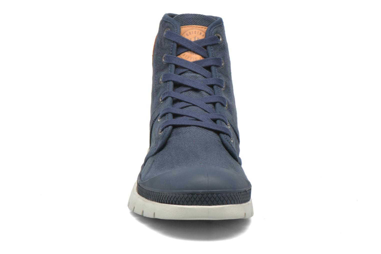 Baskets Palladium Pallabrique High LC Bleu vue portées chaussures