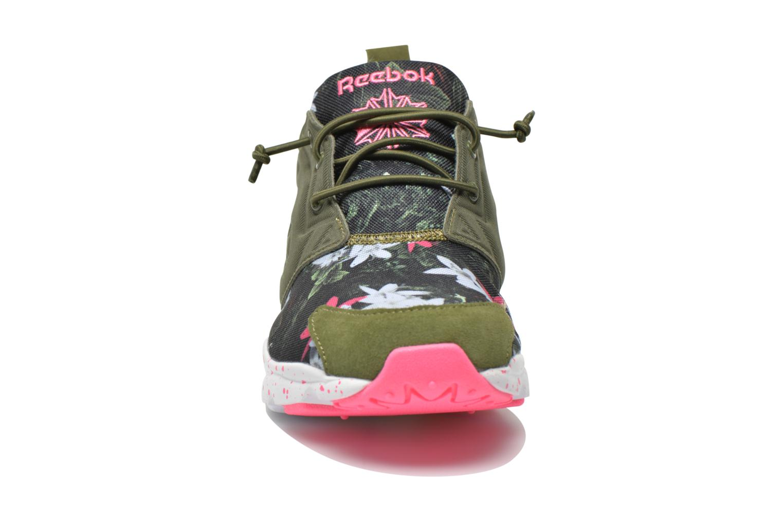 Baskets Reebok Furylite Np W Vert vue portées chaussures