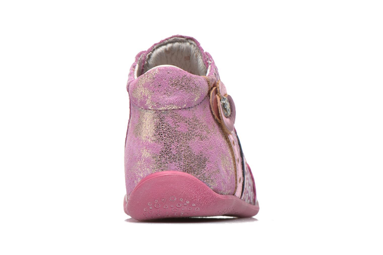 Bottines et boots Babybotte Fleuron Rose vue droite