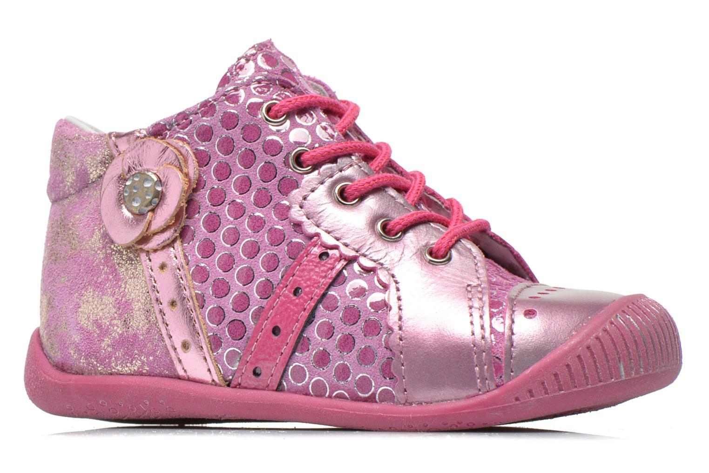 Bottines et boots Babybotte Fleuron Rose vue derrière