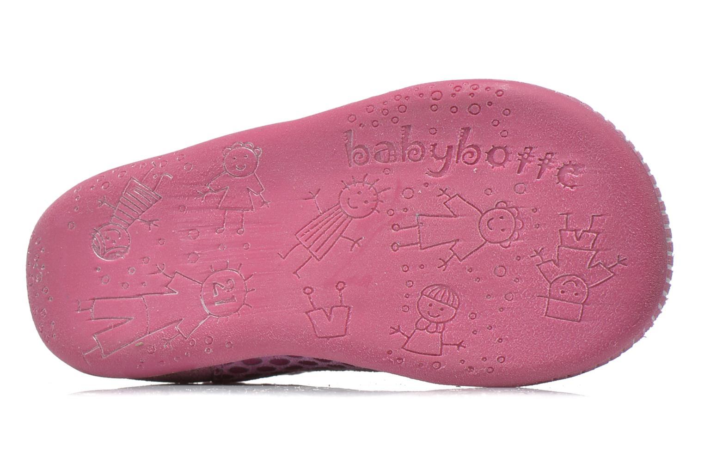 Bottines et boots Babybotte Fleuron Rose vue haut