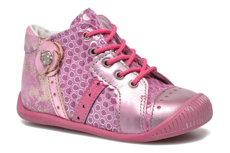 Bottines et boots Babybotte Fleuron Rose vue détail/paire