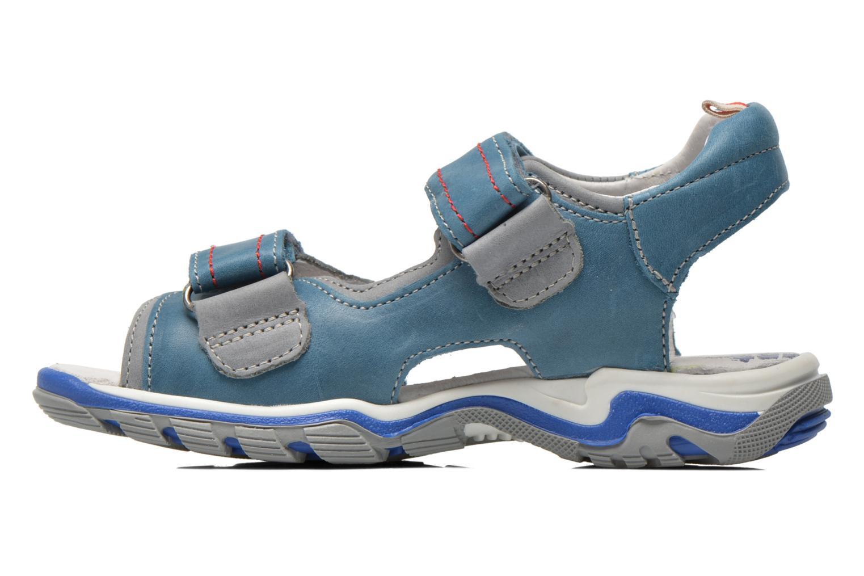 Sandales et nu-pieds Babybotte Karibou Bleu vue face