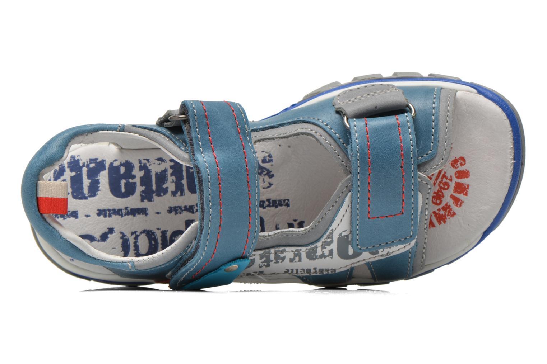 Sandalias Babybotte Karibou Azul vista lateral izquierda