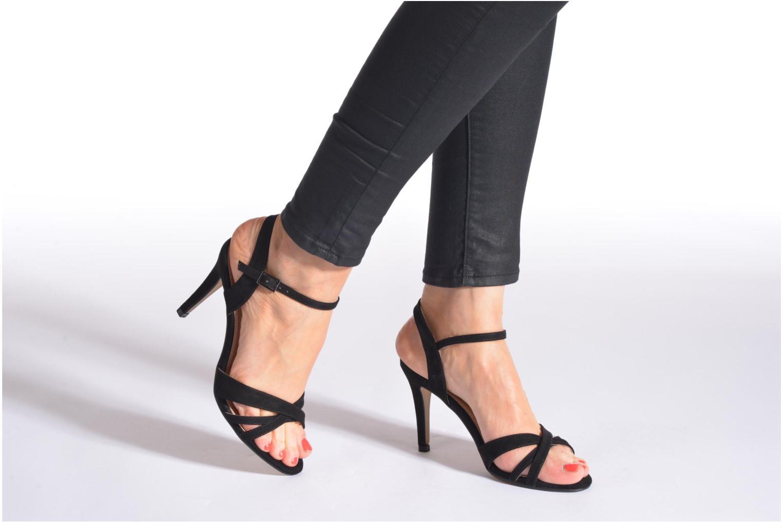 Sandales et nu-pieds Buffalo Loel Bleu vue bas / vue portée sac