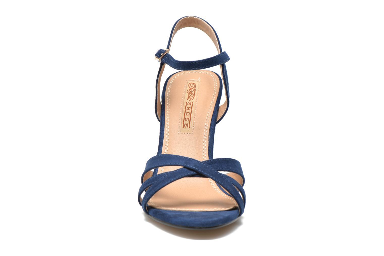 Sandales et nu-pieds Buffalo Loel Bleu vue portées chaussures