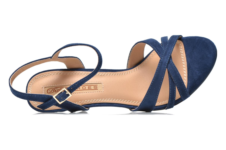 Sandales et nu-pieds Buffalo Loel Bleu vue gauche