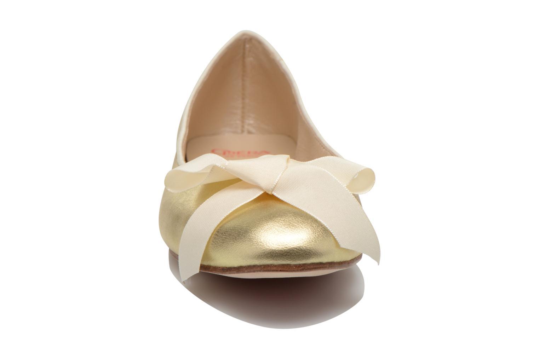 Ballerines Opéra national de Paris Endol Or et bronze vue portées chaussures