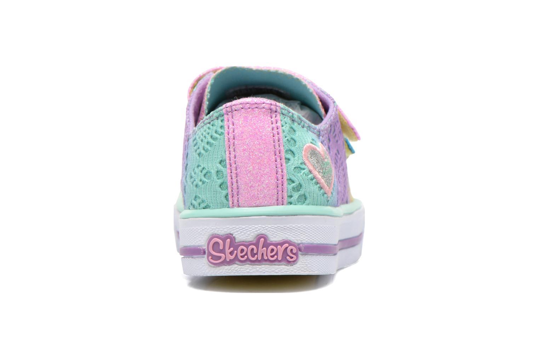 Baskets Skechers Shuffles- Rainbow Madness Multicolore vue droite