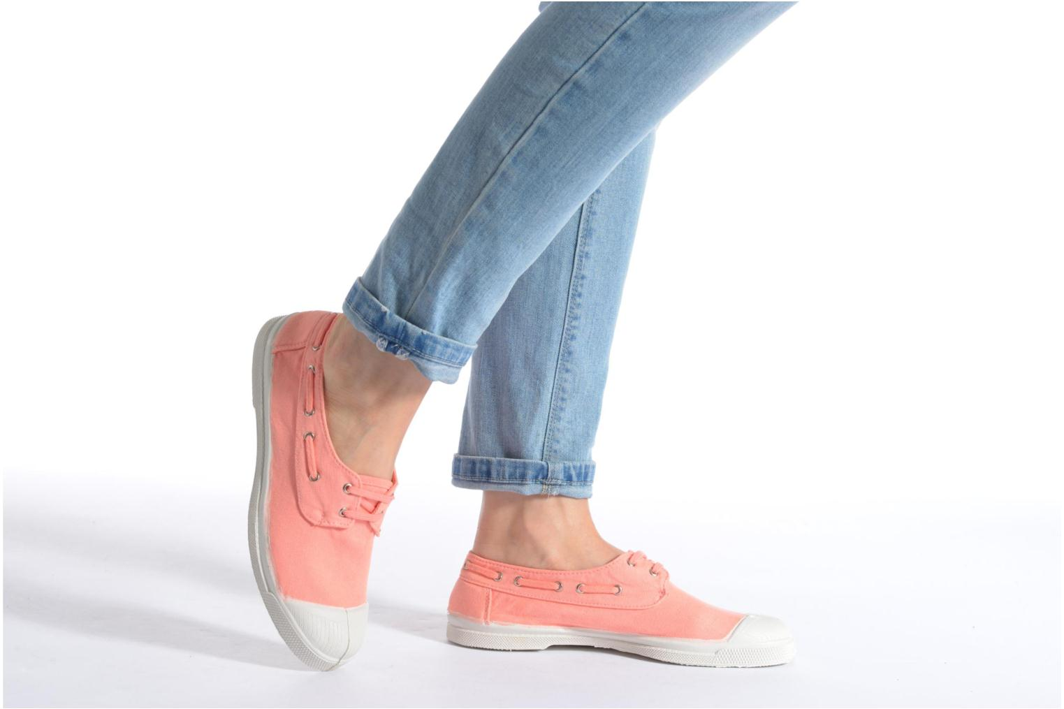Trainers Bensimon Tennis bateau Orange view from underneath / model view
