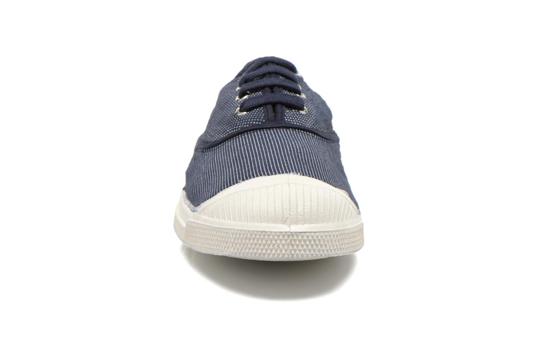 Baskets Bensimon Tennis Mixprint Bleu vue portées chaussures