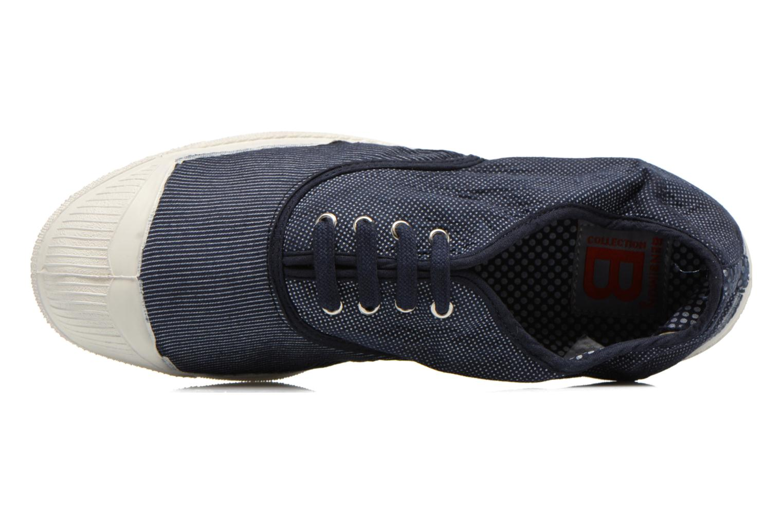 Baskets Bensimon Tennis Mixprint Bleu vue gauche