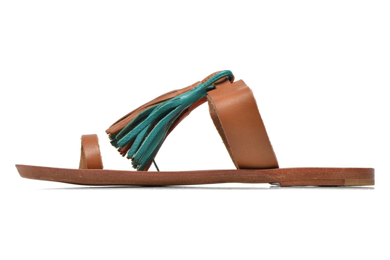 Clogs & Pantoletten Bensimon Sandale Pompon mehrfarbig ansicht von vorne