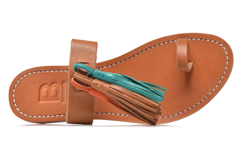 Clogs & Pantoletten Bensimon Sandale Pompon mehrfarbig ansicht von links