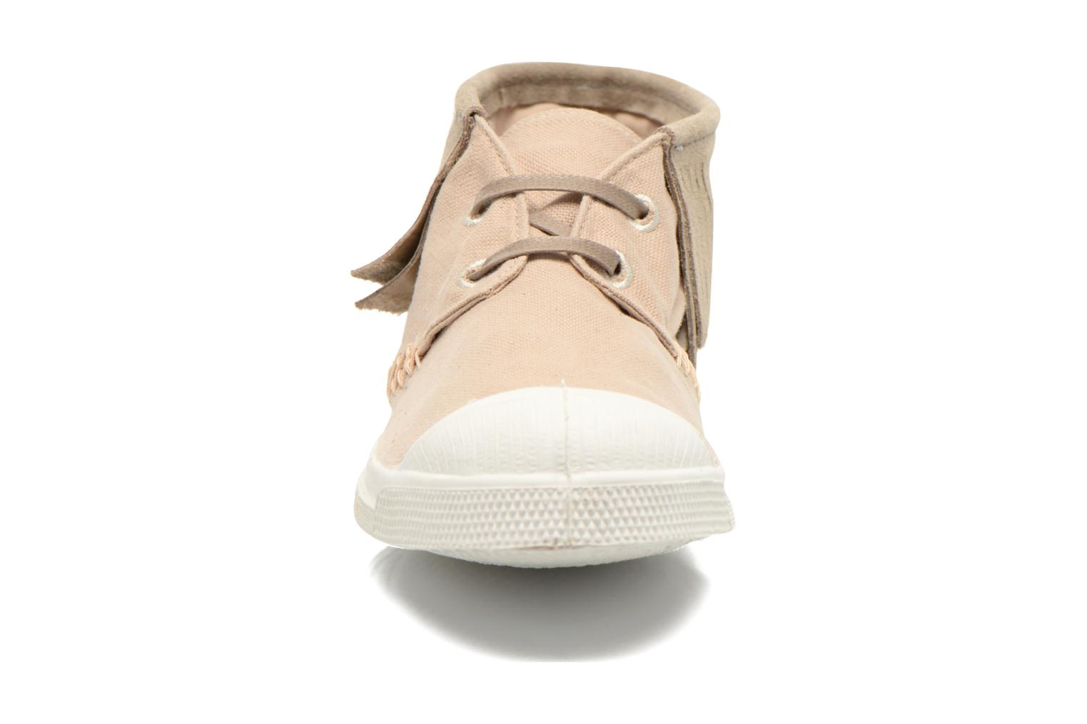 Trainers Bensimon Tennis Indian Fringes Beige model view