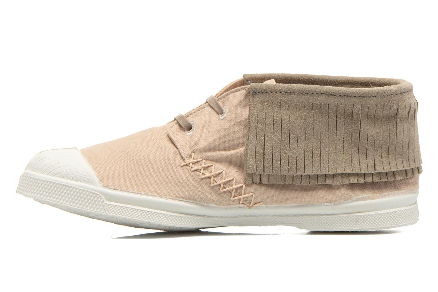 Baskets Bensimon Tennis Indian Fringes Beige vue face
