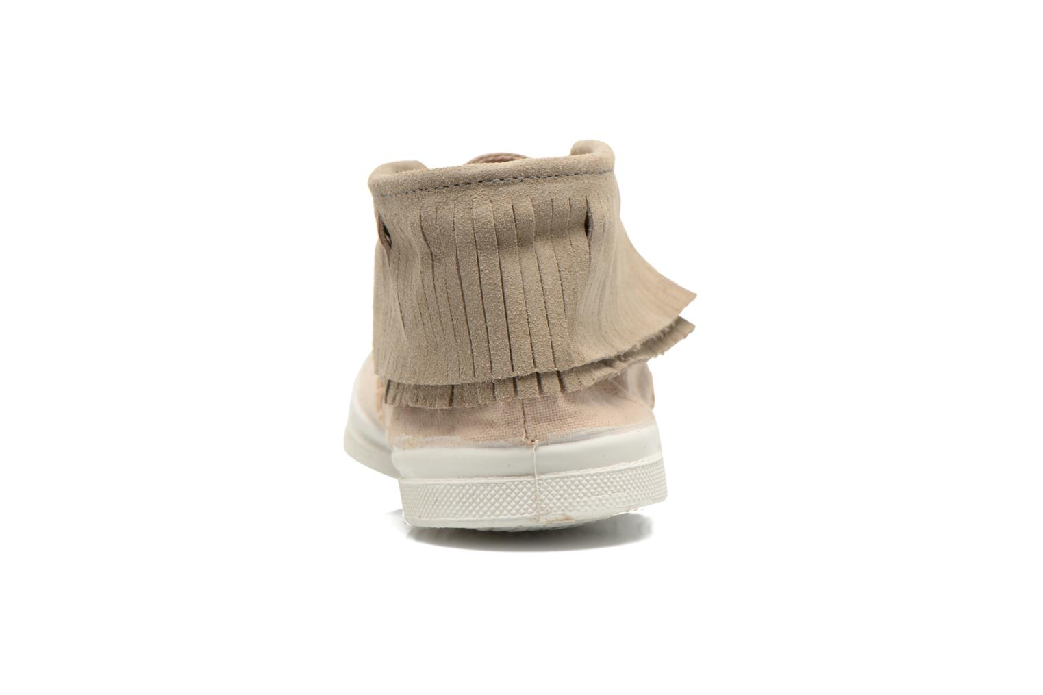 Trainers Bensimon Tennis Indian Fringes Beige view from the right