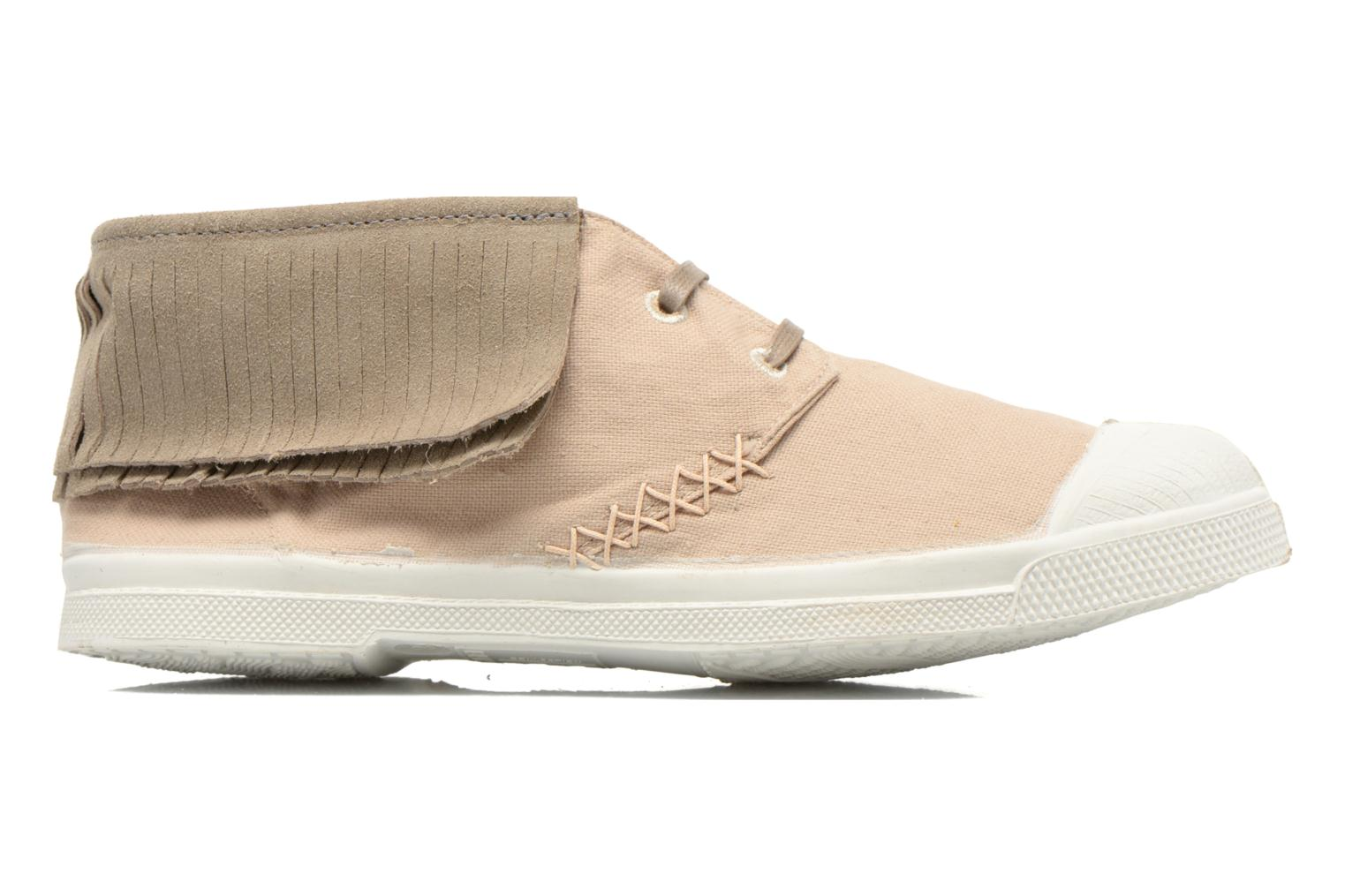 Trainers Bensimon Tennis Indian Fringes Beige back view