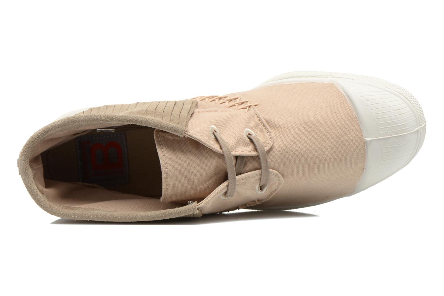 Trainers Bensimon Tennis Indian Fringes Beige view from the left