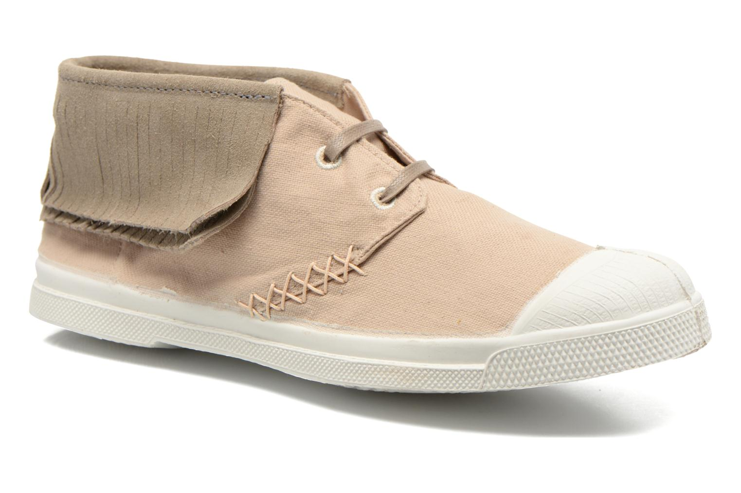 Baskets Bensimon Tennis Indian Fringes Beige vue détail/paire