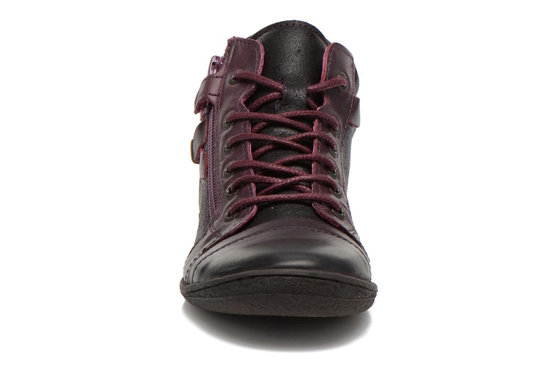 Chaussures à lacets Kickers Camaiou Violet vue portées chaussures
