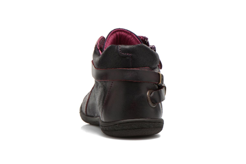 Chaussures à lacets Kickers Camaiou Violet vue droite