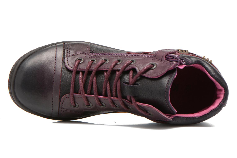 Chaussures à lacets Kickers Camaiou Violet vue gauche