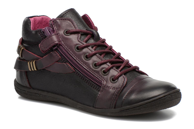 Chaussures à lacets Kickers Camaiou Violet vue détail/paire