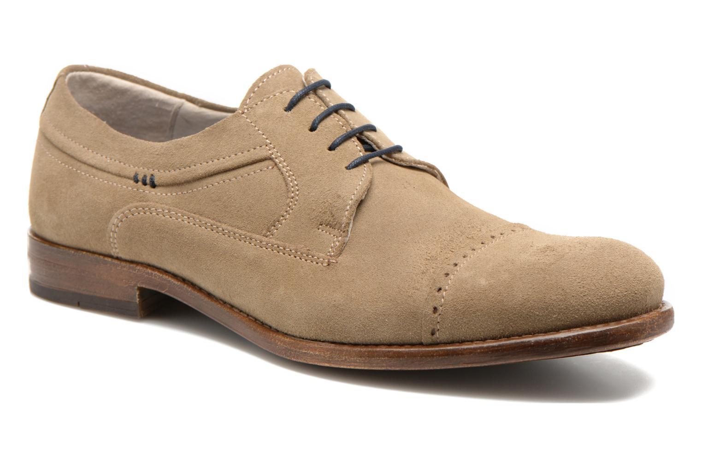 Chaussures à lacets Marvin&Co Thelodi Beige vue détail/paire