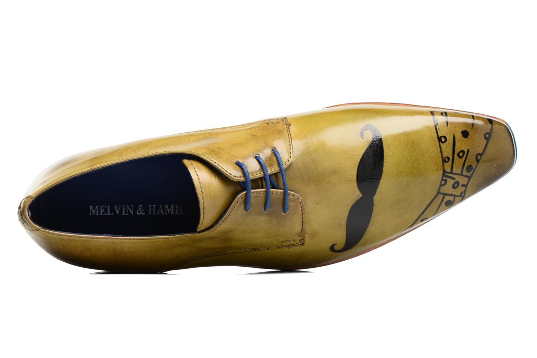 Zapatos con cordones Melvin & Hamilton Lewis 13 Amarillo vista lateral izquierda