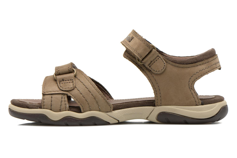 Sandales et nu-pieds Timberland Oak Bluffs Leather 2Strap Marron vue face