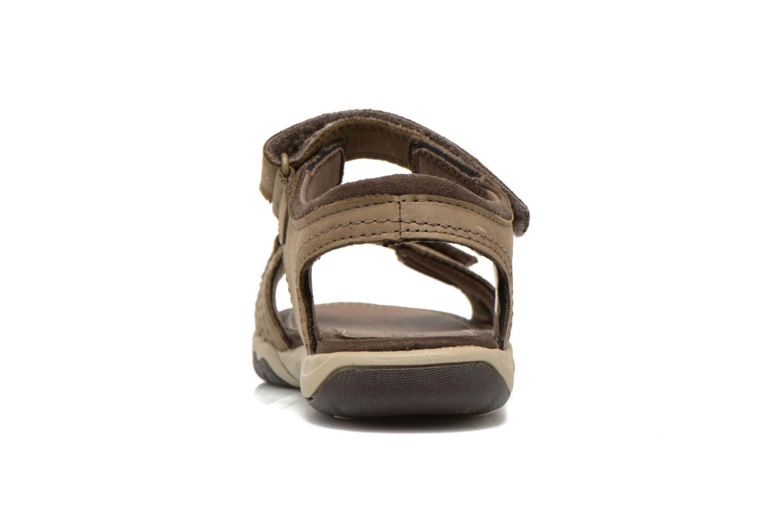 Sandales et nu-pieds Timberland Oak Bluffs Leather 2Strap Marron vue droite