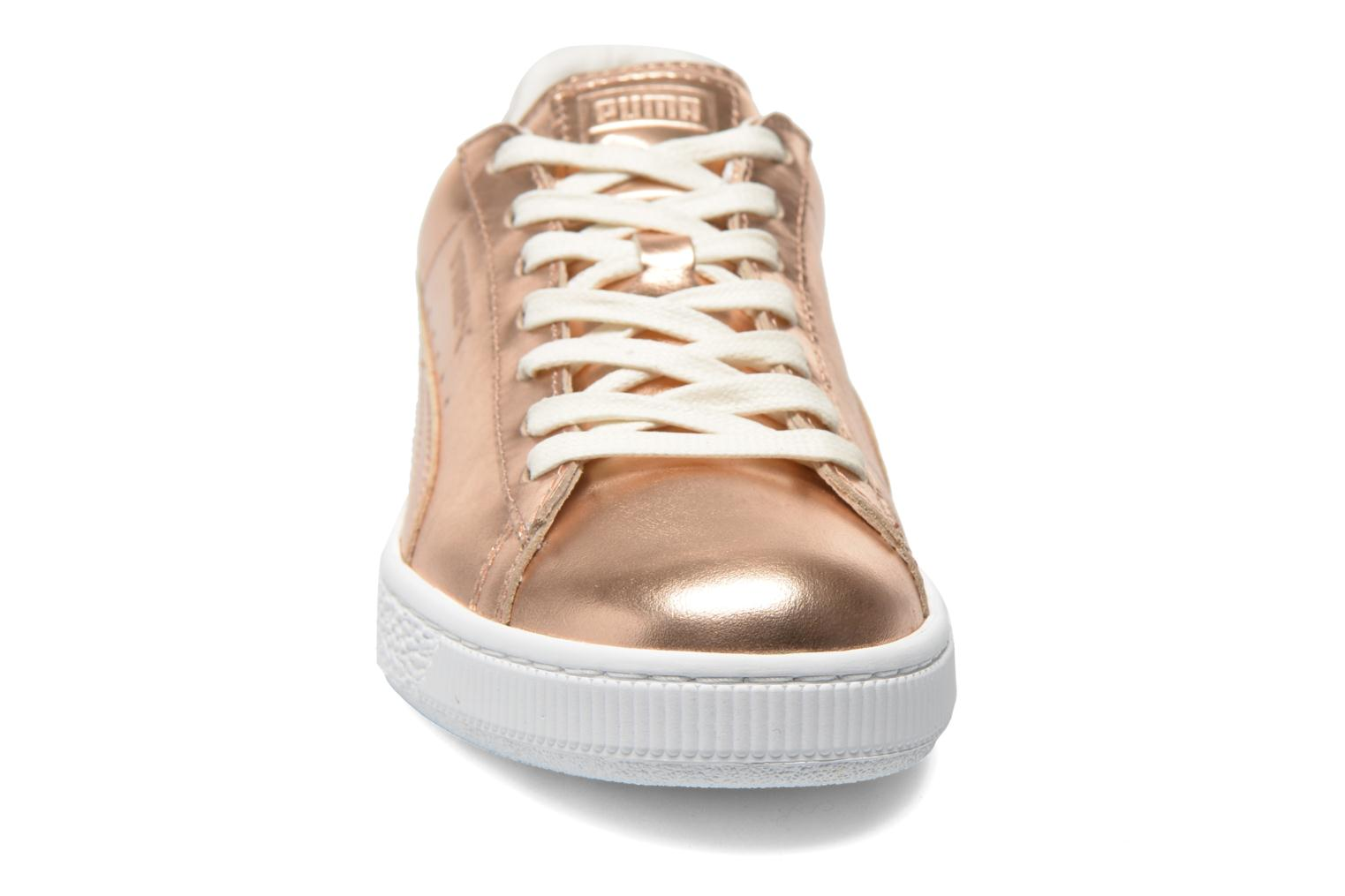 Baskets Puma Basket Creepers Metallic Rose vue portées chaussures