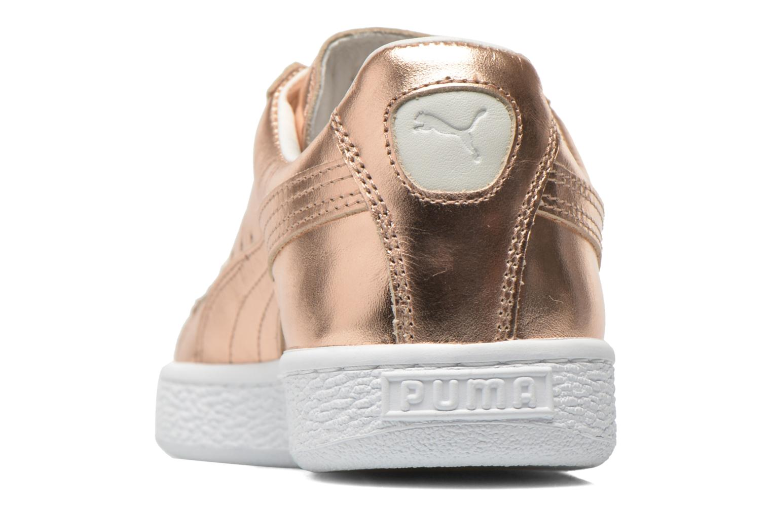 Baskets Puma Basket Creepers Metallic Rose vue droite